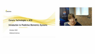 ACS Emerging and Deep Tech Webinar: The Latest Advances in Predictive Biometrics Technologies