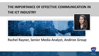 ACS Tech and Employability Skills Virtual Conference: The Importance of Effective Communication in the ICT Industry