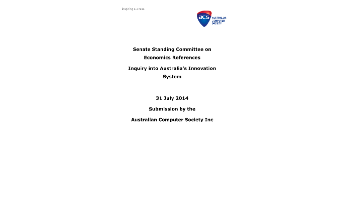 ACS Submission - Inquiry into Australia's Innovation System - July 2014
