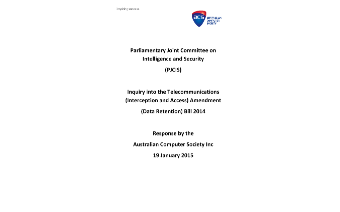 ACS Submission Data Retention Inquiry - January 2015