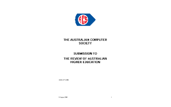ACS Submission to Higher Education Review - August 2008