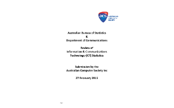 ACS Submission to the ABS Review of ICT Statistics - February 2015