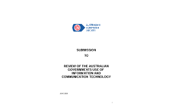 Review of the Australian Governments Use of Information and Communication Technology - June 2008